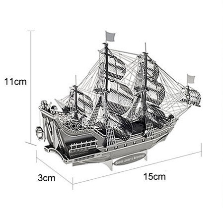 The Queen Anne's Revenge model Gold color 3D DIY laser cutting boat model educational diy toys Jigsaw Puzzle best birthday gifts t90a tank model silver color 3d diy laser cutting model educational diy toys jigsaw puzzle best birthday gifts