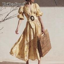 Tinggi Gaun Pinggang Fashion