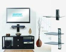 Nova marca De Alumínio Material de DVD Duplo suporte de prateleira fixado na Parede.