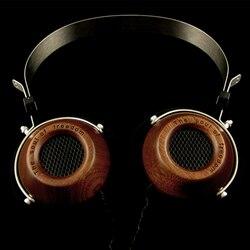 Fully enclosed monitor Open HIFI grade wood retro headphones