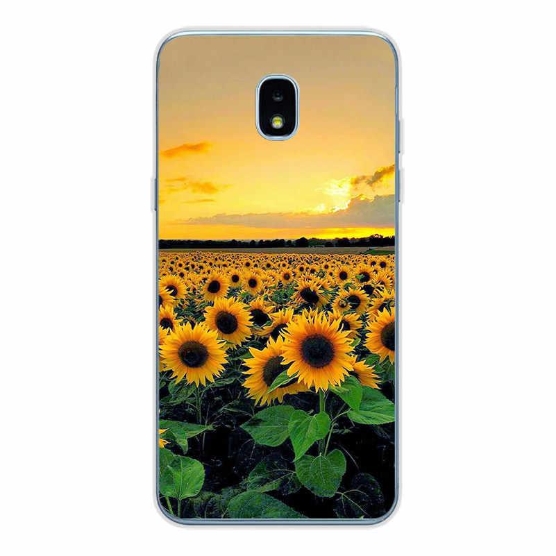 Ciciber para Samsung Galaxy J6 J5 J7 J8 J1 J2 J3 J4 Pro Plus Núcleo Prime mini 2017 2018 2016 macio TPU Casos de Telefone Coque Flor