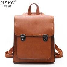 Mode femmes sac à dos femmes en cuir PU sacs à dos fille sac décole sac à dos de haute qualité vintage sacs à bandoulière voyage Bolsa nouveau