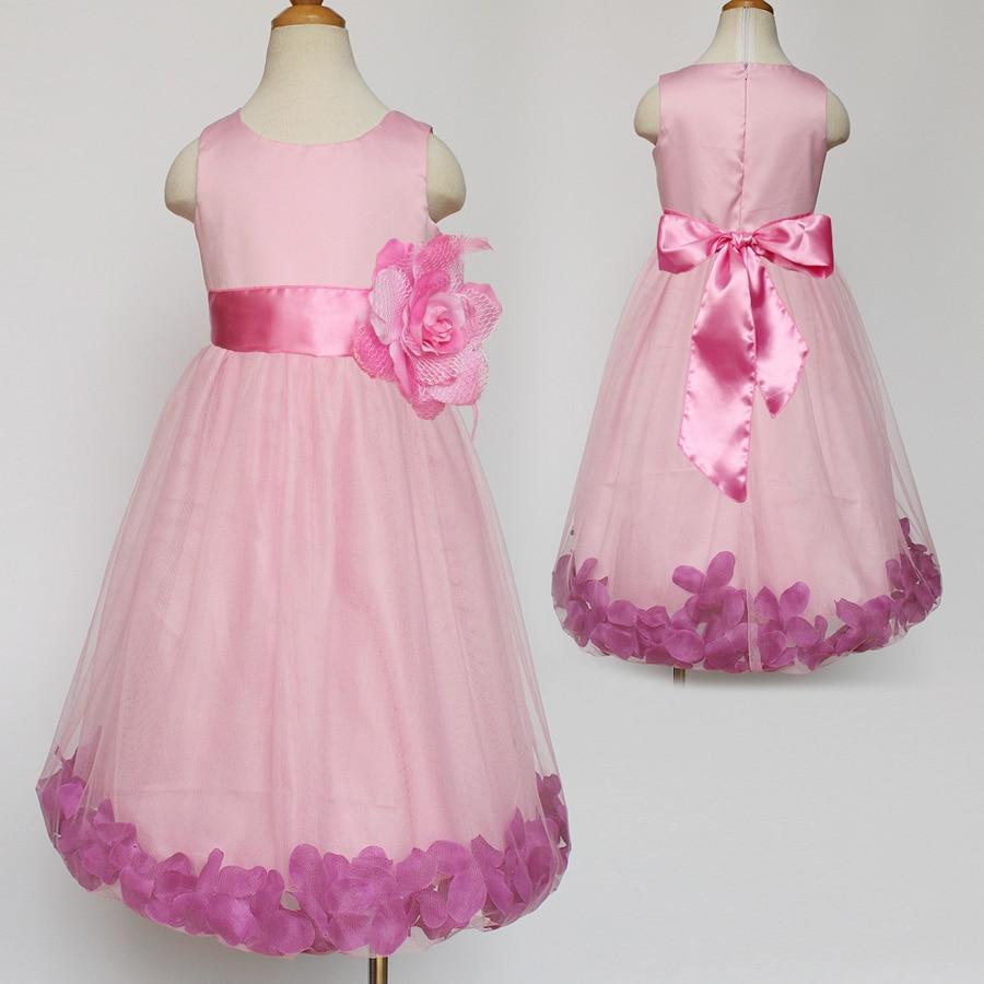 Increíble Vestido De Dama De Pétalos De Color Rosa Viñeta ...