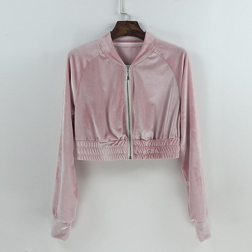 Color Tenues Femelle Pièces pink 2 Femmes black Ensemble Pantalon Crop Et Sexy Sportwear xl Top Zipper Survêtement S De 3 wIqaHcxcp