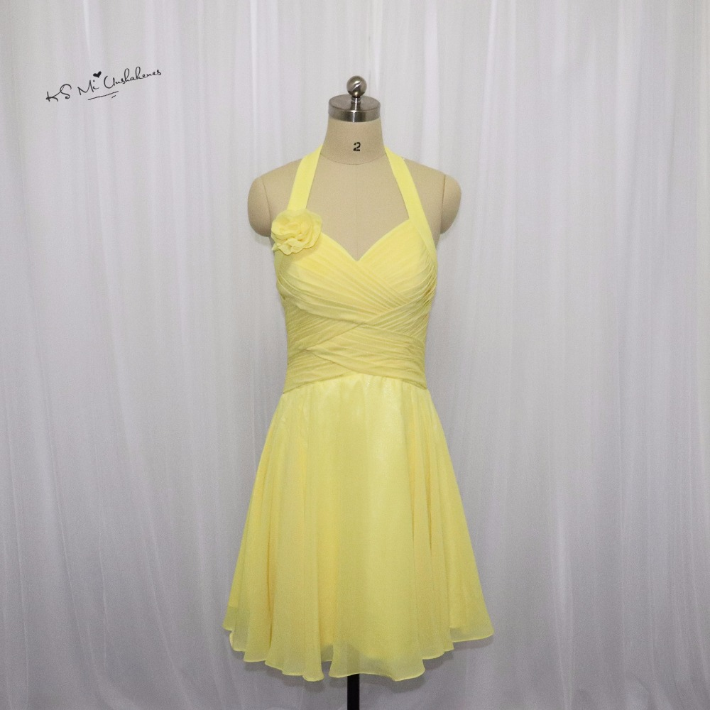 Vestido madrinha de casamento yellow bridesmaid dresses for Bohemian dresses for a wedding guest