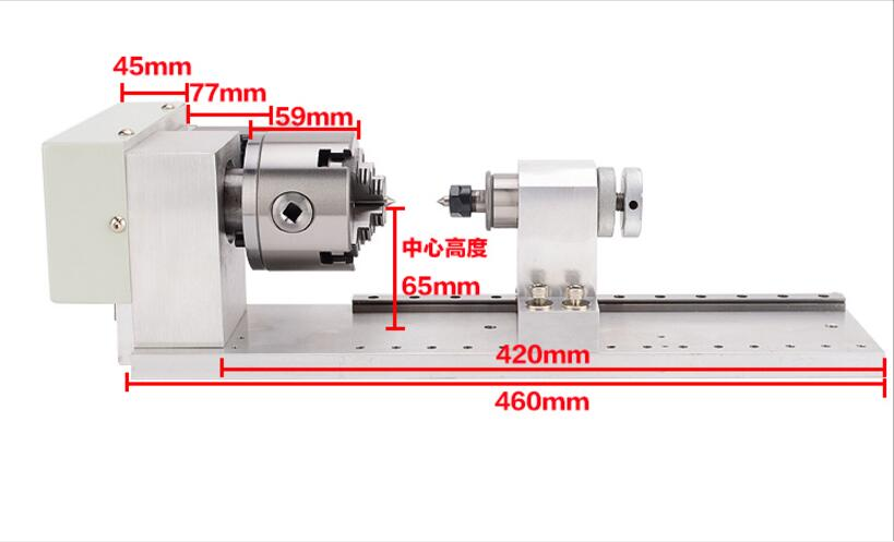 [engraving Machine] Fourth Axis Rotation Axis A Axis 4 Axis CNC Dividing Head Olive Core Stereo Accessories