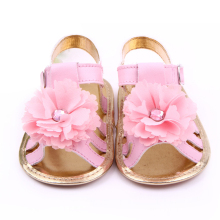 Baby Girl Sandals Brand Summer Princess Shoes Newborn Infant Toddler Leather Shoes Fashion  Diamond Flower Flats Child Slippers