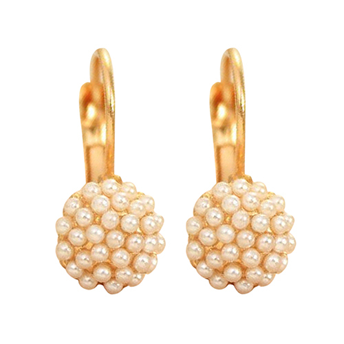 24 Pairs Mujeres Perlas de Imitación Perlas de Aleación de Oro Leverback Pendientes Gota Para El Oído Joyería Del Partido