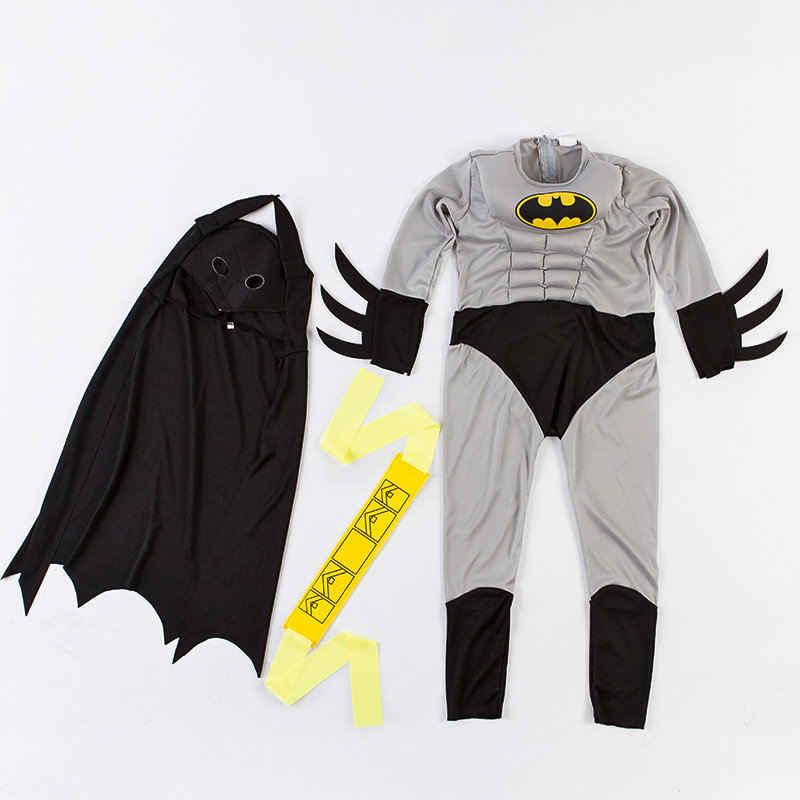 f6048a56 ... Hot Sale Child Boy Muscle Batman DC Comic Superhero Movie Character  Cosplay Fancy Dress Halloween Carnival ...