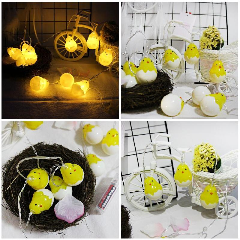 Newest Fashion Creative String Lights Party LED Light String With Cute Chicks Halloween/Christmas DIY Party String Decoration