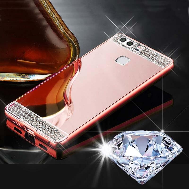 BRICOLAGE Cristal De Diamant De Couverture Pour Huawei Ascend Mate9 Pro/Compagnon 9 Lite/P8 Lite 2017/Honor 8 Lite 2017/Nova Lite Boîtier Métallique Sac
