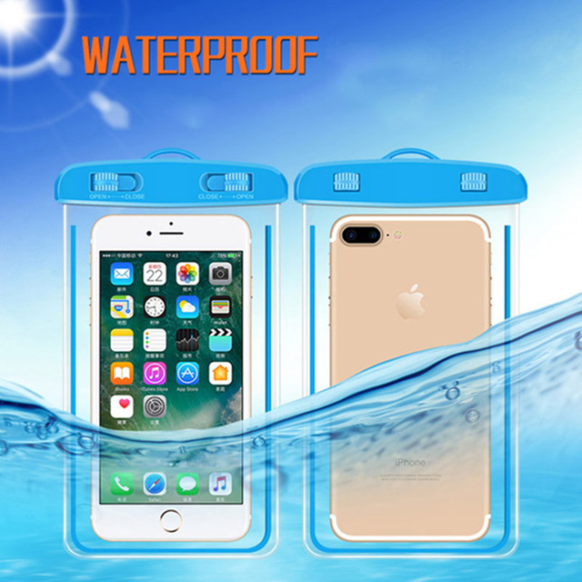 differently c9df8 16b7c US $2.5 18% OFF Universal Waterproof Phone Pouch For Micromax Canvas Juice  3 Q392/Spark 2 Q334/Nitro E455 Diving Transparent Bag Luminous Case-in ...