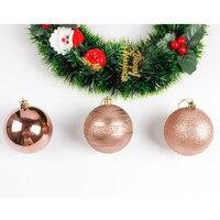 12 قطع شجرة عيد الميلاد كرات الحلي زخارف زخرفة هدية شجرة عيد زخرفة حزب الزفاف 8 سنتيمتر