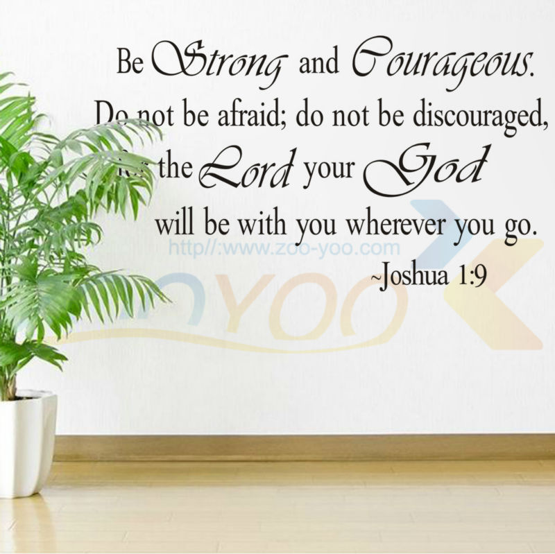Be Strong And Courageous Bible Quotes Home Decor Creative Wall Decal