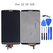 Suitable for LG G3 LCD monitor IPS with touch screen digitizer component replacement for LG G3 D850 D851 D855 smartphone Tools grey lcd display with touch screen digitizer panel assembly complete for lg g3 d855 d850 replacement free shipping