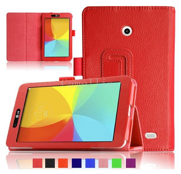 Folio PU Leather Case Smart Fit Cover For LG G PAD 7.0 V400 Tablet , (With Smart Cover Auto Wake / Sleep)