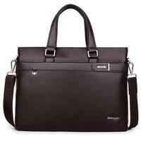 Men Bag 2017 Fashion Men Messenger Genuine Leather Briefcase High Quality Cow Leather Handbags Luxury Designer