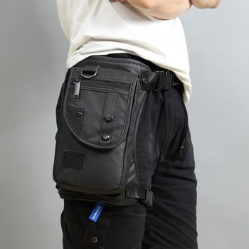 Men Fanny Waist Pack Waterproof Leg Bag Drop Messenger Shoulder Bags Travel Motorcycle Tactical Chest Pouch Bum Hip Belt Purse 1