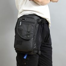 ผู้ชาย Fanny เอว Pack กระเป๋าขา DROP กระเป๋าสะพายกระเป๋าเดินทางรถจักรยานยนต์ยุทธวิธีทรวงอก Bum สะโพกเข็มขัดกระเป๋า
