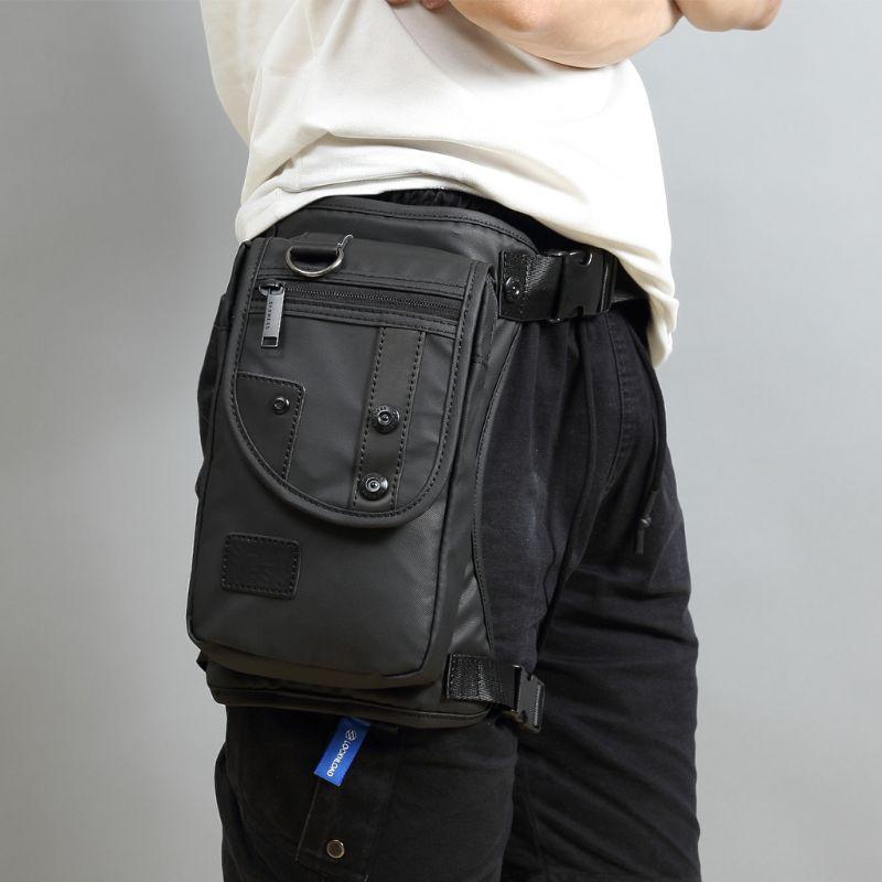 Bolsa impermeable de pierna con correa para la cintura para hombre, riñonera masculina a prueba de agua, bolsa táctica de viaje para motocicleta, bolso de mensajero, para el pecho