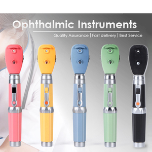 Image 1 - Multiple Colors LED Professional Medical Oftalmoscopio 5 Different Apertures Eye Diagnostic Kit Portable Direct Ophthalmoscope