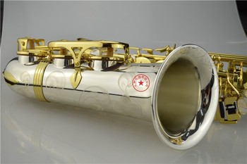 Nueva boquilla de saxofón A-WO37 Alto con Llave de Oro niquelada profesional saxofón con funda y accesorios