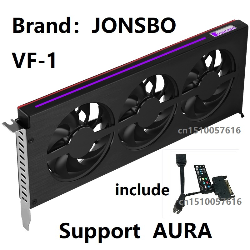 JONSBO VF 1 Graphics Card Heatsink Aluminum magnesium housing support AURA Motherboard RGB light effect strip