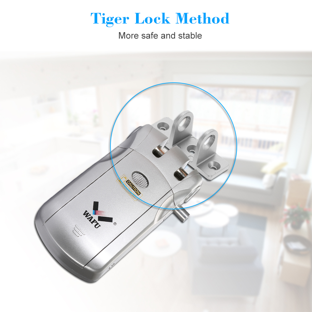 WAFU WF 018U Wireless Remote Control Lock Security Invisible Keyless Intelligent Lock Zinc Alloy Metal iOS