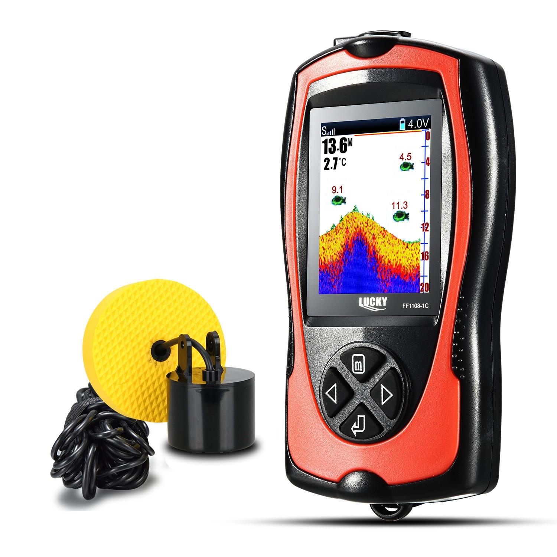 FLGT FF1108 1 & FF1108 1CT Fishfinder sonar Portátil Fish Finder Profundidade Sonar Sirene de Alarme À Prova D' Água de peixe (FF1108 1CT)