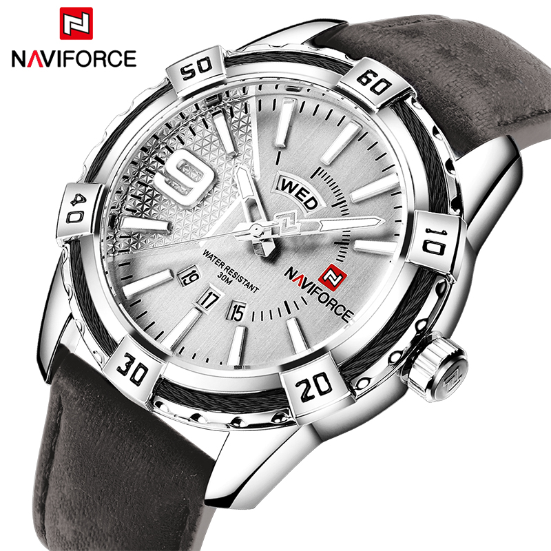 2018 NAVIFORCE Top Luxury Brand Sports Watches Men Date Quartz Leather Clock Man Army Military Wrist Watch Relogios Masculino top luxury brand naviforce military watches men quartz analog clock man leather sports watches army watch relogios masculino
