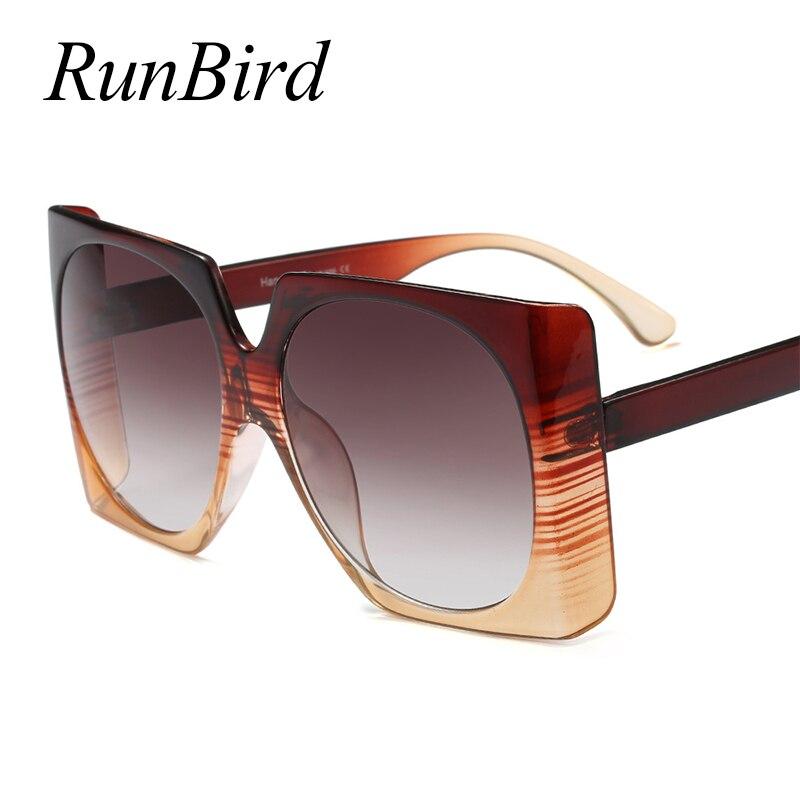 86dd8f52fef63 RunBird Praça de Grandes Dimensões óculos de Sol Das Senhoras Das Mulheres  de Design Da Marca
