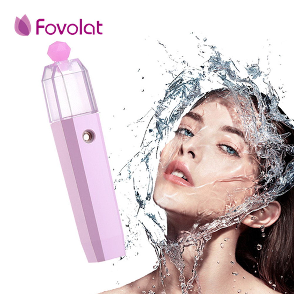 1Pcs Handy Facial Mist Sprayer Mini Protable Nano Atomization Water Mister Skin Care Hydrating Face Vaporizer for Travel portable mist sprayer face cleaning nano sprayer handy mist facial nebulizer steamer moisturizing hydrating nano ion new