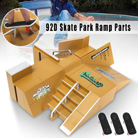 92D Skate Park Kit Ramp Parts For Tech Deck Fingerboard Excellent Gift For Extreme Sports Enthusiasts Sport Training