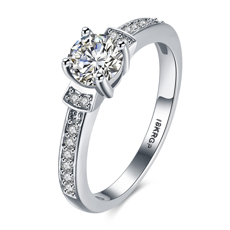 KJ-GPR820, KimJ Brilliant-13 luxury Ring, top Brilliant cz plated with silver color, Best for gift, Christmas, party or lady