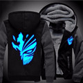 USA size Anime BLEACH Kurosaki ichigo Sweatshirts Hoodie Luminous Unisex Thicken Jacket Coat