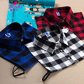 Nuevo Estilo de Moda Camisa de Cuadros Falsos Cuellos postizos Collar Suéter Del Todo-Fósforo de Las Mujeres