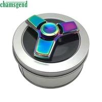 CHAMSGEND Funny New Tri Fidget Hand Spinner Mixed Ceramic Bearing Desk Toy EDC Finger Gyro 2017