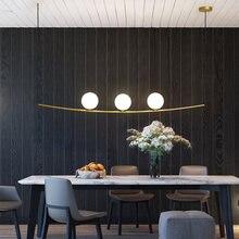 Светодиодные люстры для столовой минималистичный светильник