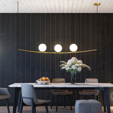 New Dining room Led Chandeliers Lighting Minimalist Glass Ball Living room Pendant Lamp Bedroom Hanglamp Nordic Lamp Loft Deoc