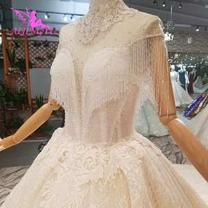 Image 1 - AIJINGYU Wedding Dresses For Bride Gowns By Tulle Asian Cheap Designer Mature Colors Fashion Gown Wedding Dress By