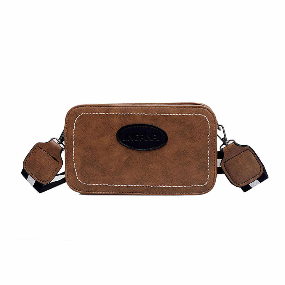 ... OCARDIAN Shoulder Bags Women Ins Small Bag Wild Retro Leather Messenger  Bag Chic Wide Shoulder Strap ... ba0201ecc6abe