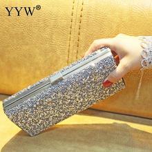Rhinestone Clutch Bag Women Luxury Gillter Evening Party Purse Box Bag