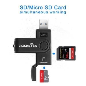 Image 3 - USB 3.0 Rocketek רב קורא כרטיס הזיכרון OTG סוג ג אנדרואיד מתאם קורא כרטיסים עבור מיקרו SD / הקוראים PC מחשב TF MicroSD