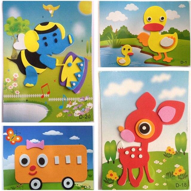 8 Pcs Lot Eva Stiker 3d Kolase Eva Diy Handmade Mewarnai Stiker
