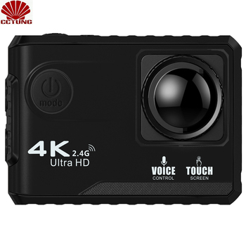 цена на 4K Ultra HD Sports Action Camera with Touch Screen Voice Control Remote Control by 2.4Ghz WiFi with Free APP GPS Positioning