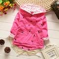 2015 casaco пальто младенца верхней одежды roupa infantil feminina милый ребенок куртки младенческой девушка толстовка кардиган пальто оптовая продажа