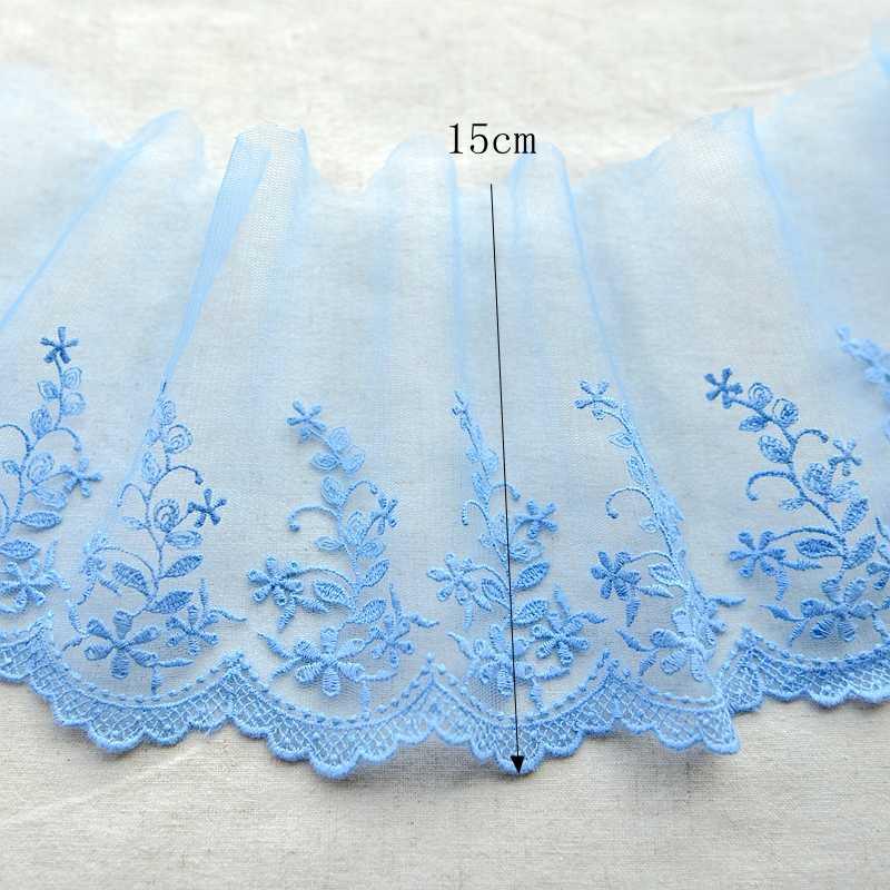 Hot slae f953 Rendas acessórios fios de bordado Net lace vestido Do laço Do Vintage de Alta Qualidade