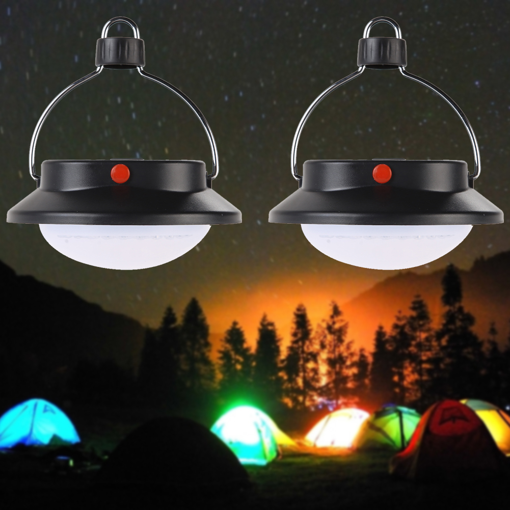 2pcs Ultra Bright 60LED Camping Tent Light Rechargeable 3 Modes Outdoor  Portable Lights Hiking Fishing Camping Lamp Lantern