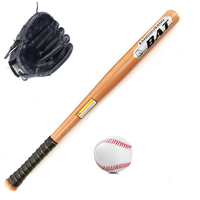 Classic 1 Set Healthy Sport Soft Baseball Bat Glove and Ball Set Baseball Practice Equipment Outdoor Softball Pitcher's Gloves