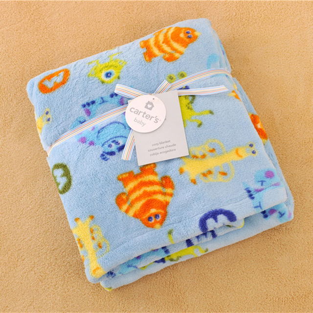 Newborn Baby Cartoon Giraffe Coral Fleece child winter THICKEN receiving blankets Girls Cot Quilt soft air condition blanke
